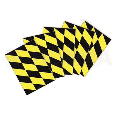 Herma Labels Floor Marketing Black/Yellow 15pcs