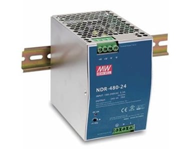 Mean Well Mean Well PSU 230VAC/48VDC 480W for DIN rail