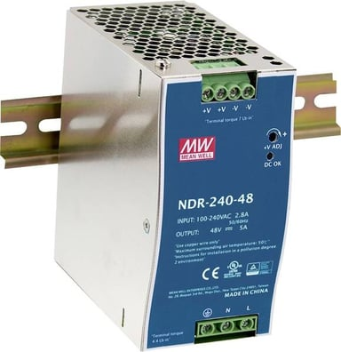 Mean Well Mean Well PSU 230VAC/48VDC 240W for DIN rail