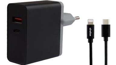 Cirafon Wall Ipad Charger 27W Pd3.0/Qc4 Sort