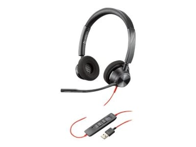 Poly Blackwire 3320 USB-A Headset Musta