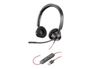 Poly Blackwire 3320 USB-A Headset Svart