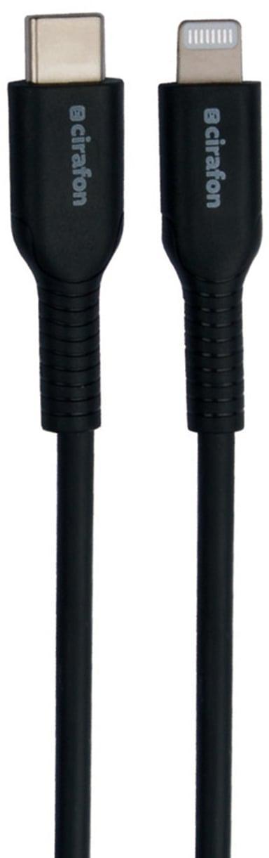 Cirafon Sync/Charge Cable cm To Lightning 1.2m - Black Mfi T 1.2m Svart