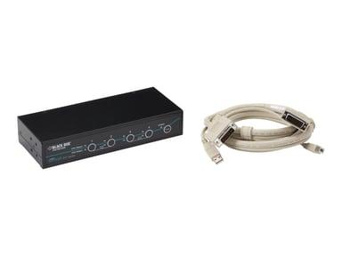 Black Box DT KVM Switch (Incl. Cables) - DVI-D USB 4-Port