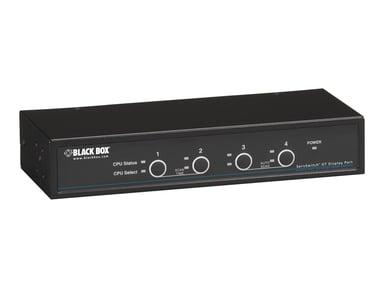 Black Box DT KVM Switch - DP Audio USB 2.0 4-Port