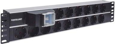 Intellinet Power Outlet for Rack 15st CEE 7/3 strøm