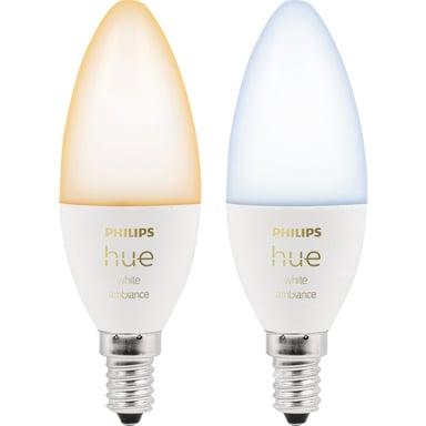 Philips Hue White Ambiance 6W E14 BT 2-pakning