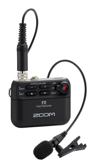Zoom F2 Field Recorder Musta