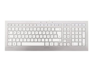Cherry STRAIT 3.0 for Mac Met bekabeling Duits Wit Zilver