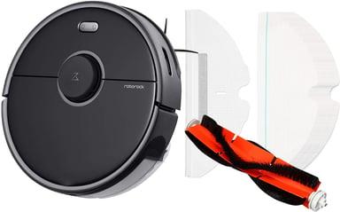 Roborock S5 Max Black Bndl W Main Brush+30Pcs Mop Cloth #Kit