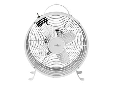 Nedis Bordblæser Retro 25cm 20W 2-Hastigheder Hvid