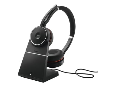 Jabra Evolve 75 Stereo MS Headset (inkl. Laddningsställ) Svart
