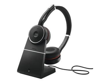 Jabra Evolve 75 Stereo MS Headset (sekä latausasema) Musta