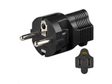 Microconnect Universal adapter Schuko/US