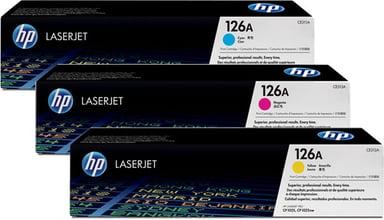 HP Värikasetti Kit 126A (Y/C/M) 1K - CF341A