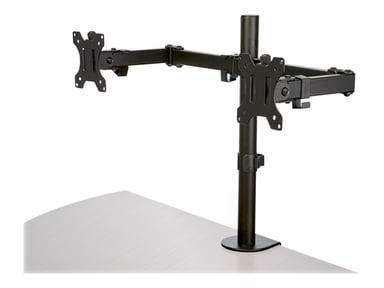 """Startech Dobbel skjermarm m/bordfeste Crossbar – opptil 32""""-skjerm"""