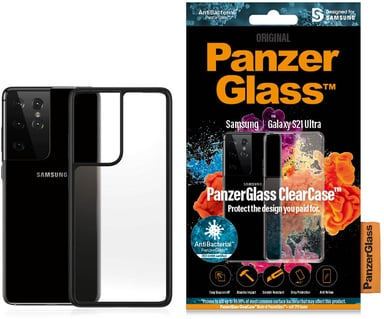Panzerglass Clearcase BlackFrame Samsung Galaxy S21 Ultra Zwart