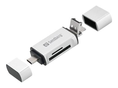 Sandberg - Kortlæser (SD, microSD)
