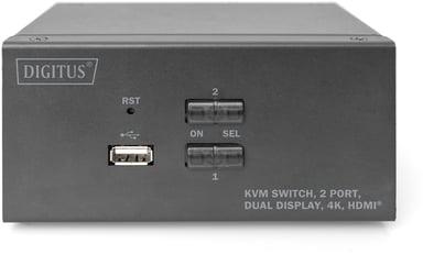 Digitus 2-porttinen Dual Display 4K HDMI KVM -kytkin