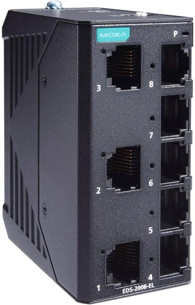 Moxa EDS-2008-EL Industriell Ohanterad 8-port Switch