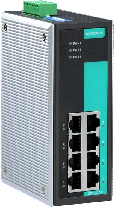 Moxa EDS-G308 Industriel, ikke administreret switch med 8 porte
