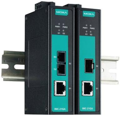 Moxa IMC-21GA-SX-SC Fibermedieomformer SC flermodus RJ-45