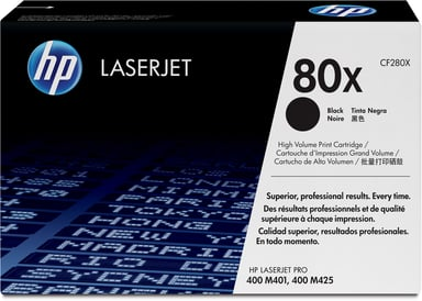 HP Toner Sort 80X 6.9K - CF280XD 2-Pack