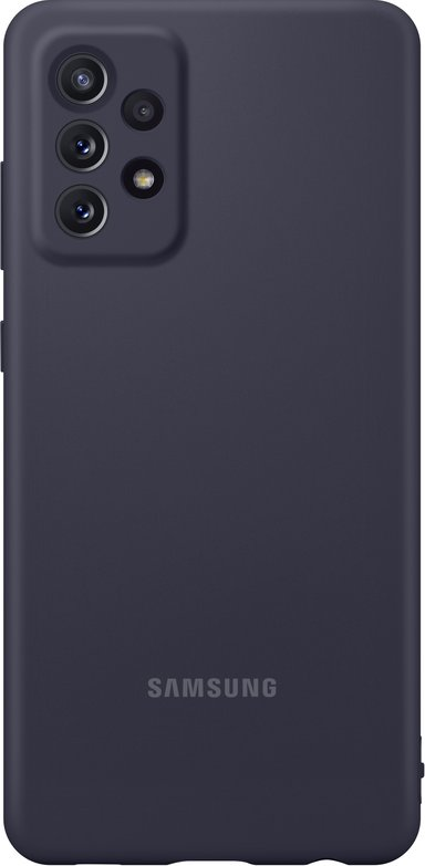 Samsung Silicone Cover Samsung Galaxy A72 Svart