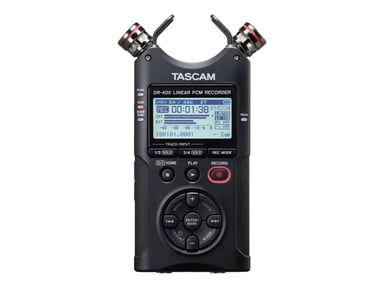 Tascam Handheld 4-Track Recorder Dual Recording 2X Stereo