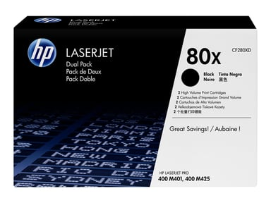 HP TONER BLACK 80X 6,9K - PRO M401/M425 2-PACK #demo