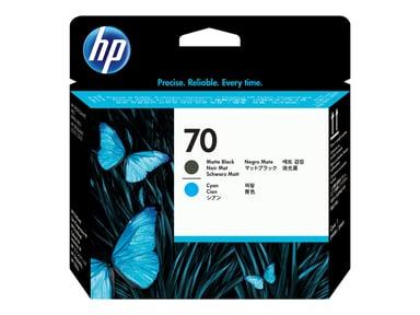 HP Printerhoved NO.70 MAT Sort & Cyan - DJ Z2100