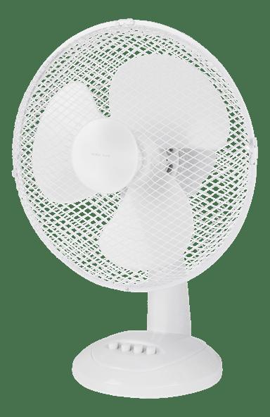 Nordic Home Pöytätuuletin 310 mm, 3 nopeutta, valkoinen