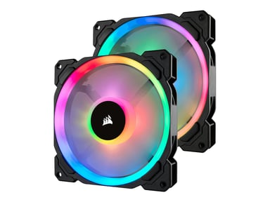 Corsair LL140 RGB PWM FAN DOUBLE PACK + LIGHTNING NODE PRO #demo