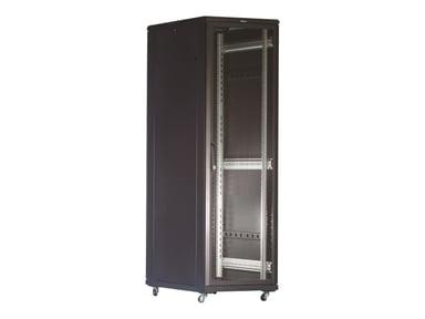 """Toten G3 19"""" FLOOR CABINET 42U 600X600 PERFORATED DOOR BLACK #demo"""