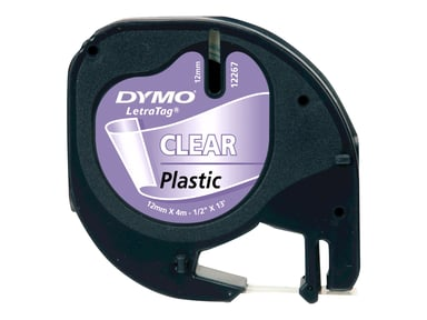 Dymo LetraTAG LT-tape, 12 mm, klar plast