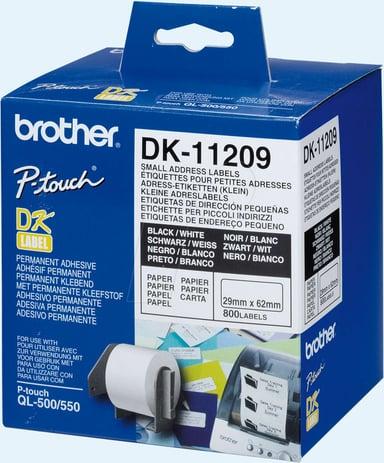 Brother Etiketter Adress 29 x 62mm 800st Vit