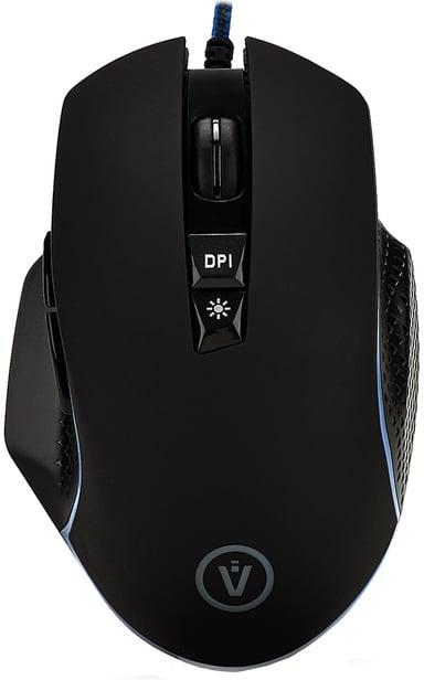 Voxicon Wired Mouse Gr650 6,400dpi Mus Kablet Svart