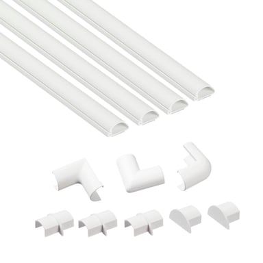 D-LINE Kabelkanal Kit 4 x 1m 20x10mm
