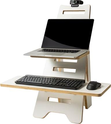 Prokord Hev- og senkbart skrivebord tre Hvit