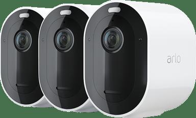 Arlo Pro 4 Wire-free Spotlight Camera White 3-Pack