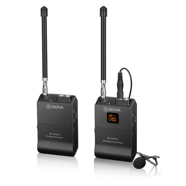 Boya BY-WFM12 VHF Trådlöst Mikrofonsystem Svart