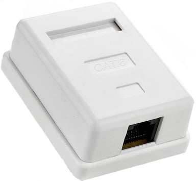 Prokord Wall Outlet 1-Port FTP Cat6 White