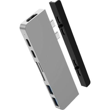Hyper HyperDrive DUO 7-in-2 - Silver Thunderbolt 3 Minitelakointiasema