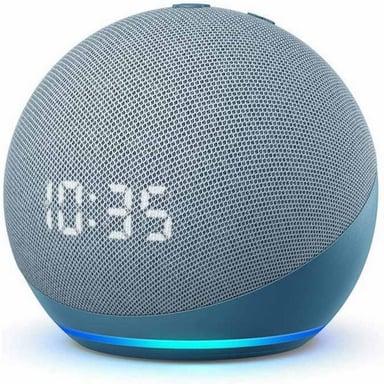 Amazon Echo Dot with clock (4th Generation) Twilight Blue