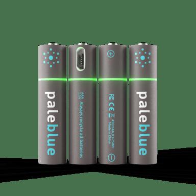 PALE BLUE Pale Blue Recharge Battery AAA 450Mah 4-Pack W 4X1 Chg Cbl