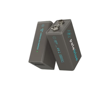 PALE BLUE Pale Blue Recharge Battery 9V 450Mah 2-Pack W 2X1 Chg Cbl