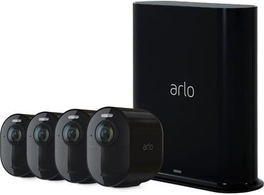 Arlo Ultra 2 Trådlös övervakning 4-pack Svart