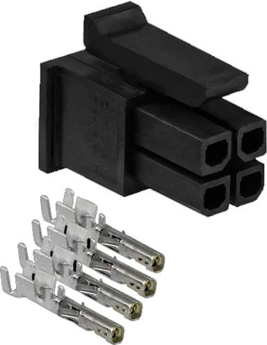 Teltonika 4-pins strömkontakt med terminaler