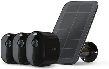 Arlo Arlo Pro 4 Wire-Free Spotlight Camera 3-pack + 1 Solar Panel, Svart