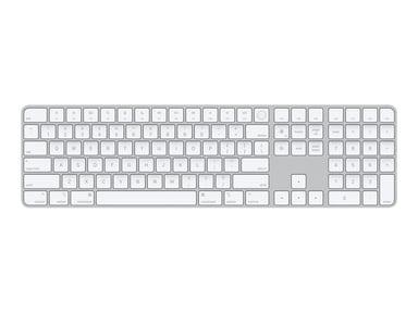Apple Magic Keyboard with Touch ID & Numeric (2021) Trådlös Sverige Svensk Silver Vit